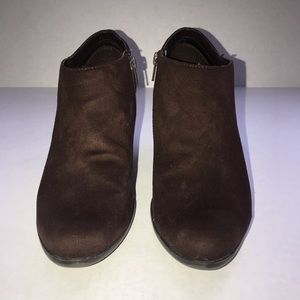 Laura Ashley Shoes - Faux suede brown Laura Ashley Lafindon ankle boots